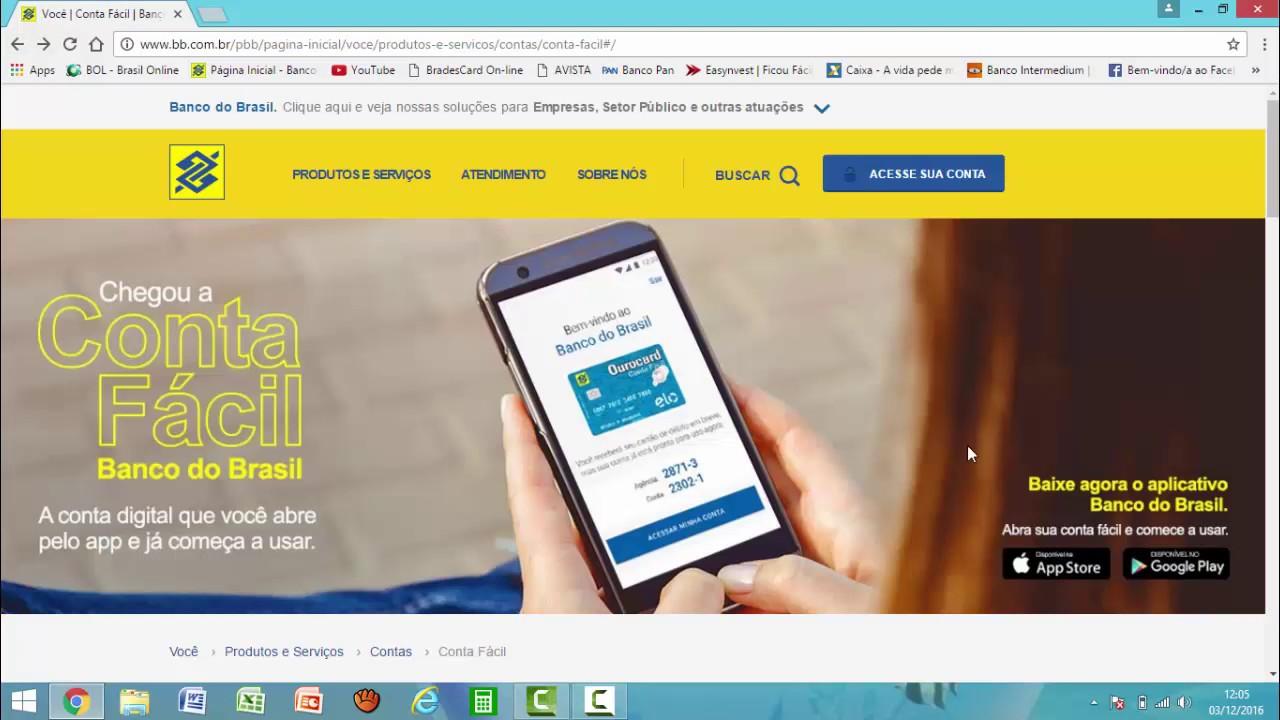 Conta Fácil, a conta digital do BB - Veja os Benefícios!