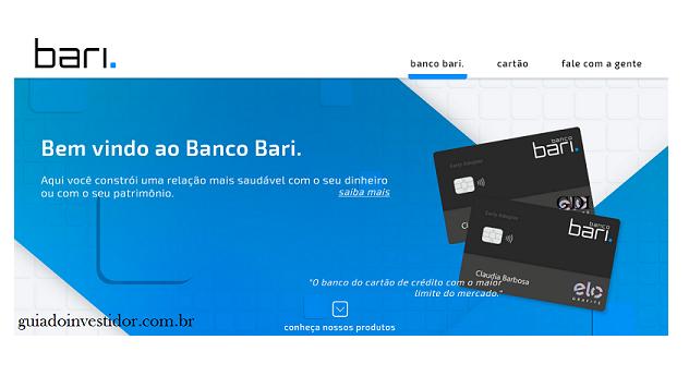 Banco Bari: o primeiro cartão de crédito com limite de até R$ 1 milhão