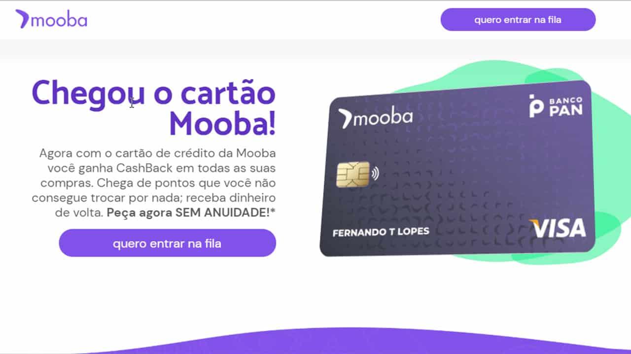 Garanta anuidade zero do cartão Mooba e receba dinheiro de volta