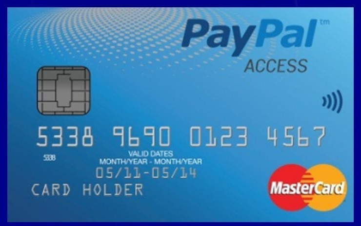 Cartão Paypal MasterCard