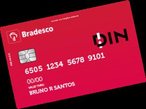 Bradesco DIN - Cartão Pré-Pago Com Opção de Receber Salário!