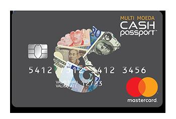 Cartão de Viagem Multimoeda Cash Passport