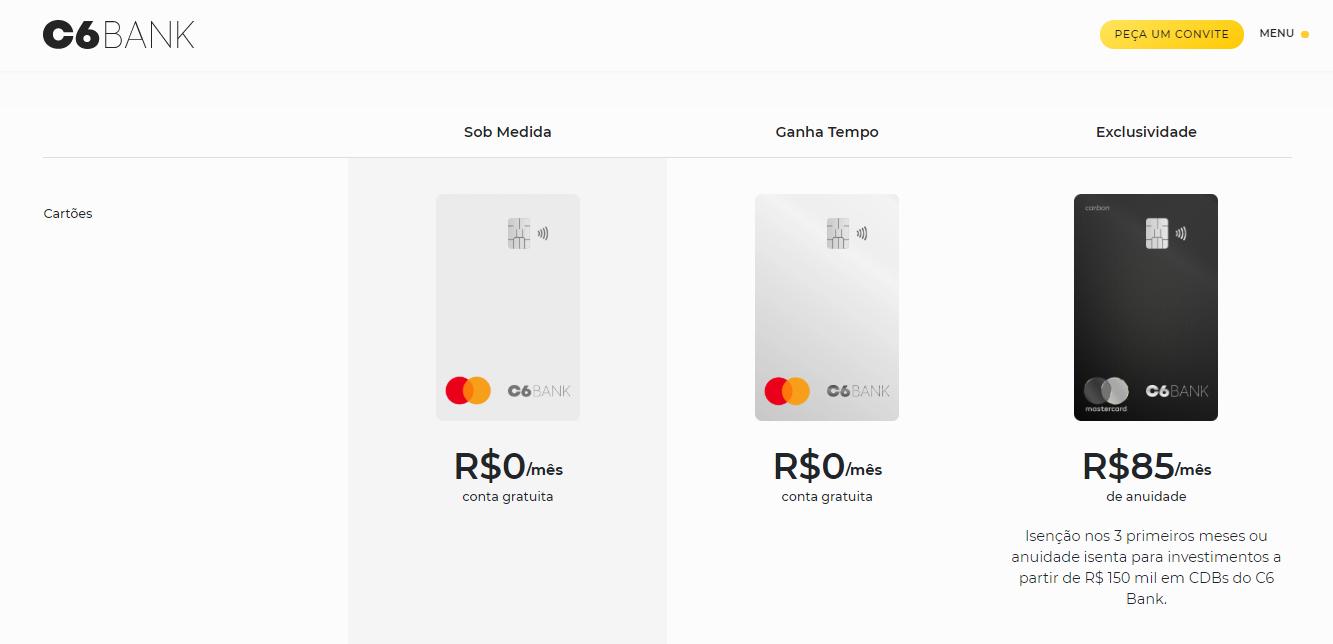 Banco Digital C6 Bank | Conta Digital + Cartão de Crédito Que Acumula 2,5 Pontos