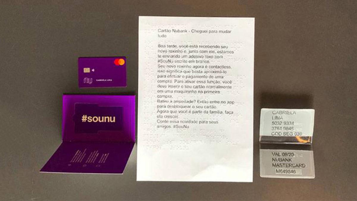 Novo kit de Entrega do Cartão Nubank Para Seus Clientes