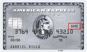 CID American Express cartão